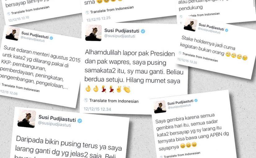 Image result for menteri susi bahasa birokrasi bagja hidayat